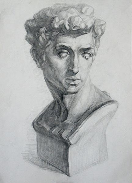 大师石膏素描结构图 头像